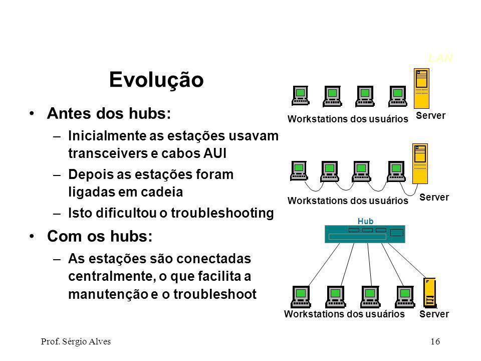 Workstations dos usuários
