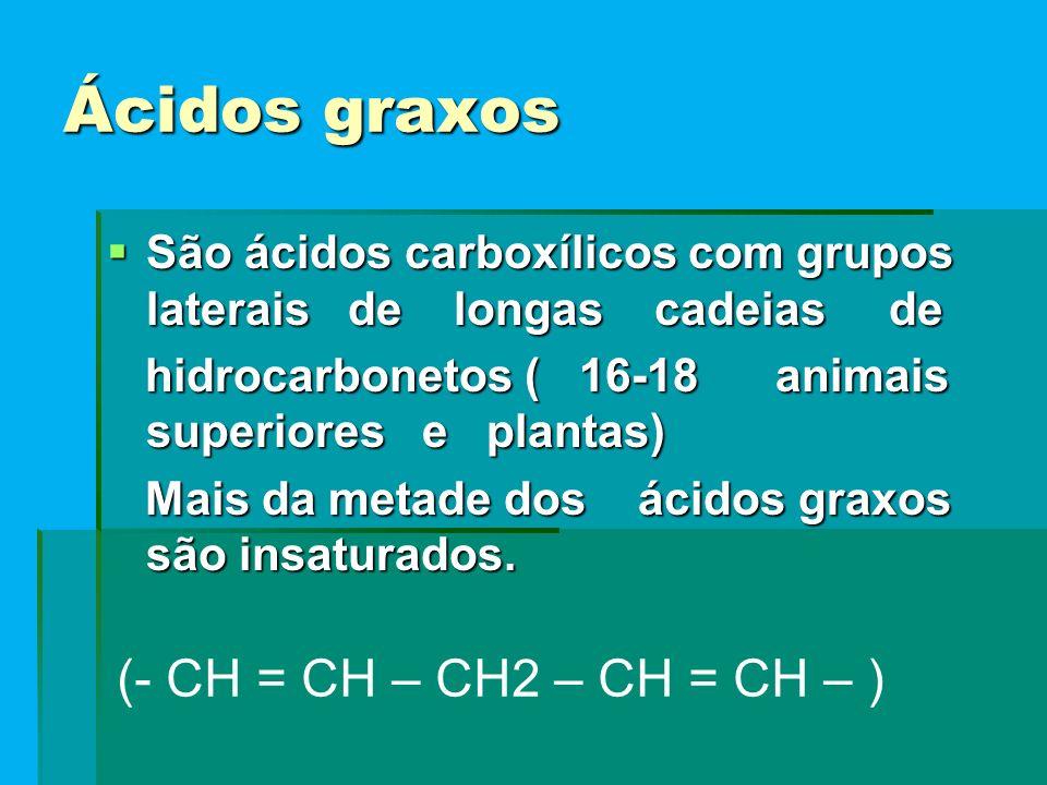 (- CH = CH – CH2 – CH = CH – ) Ácidos graxos