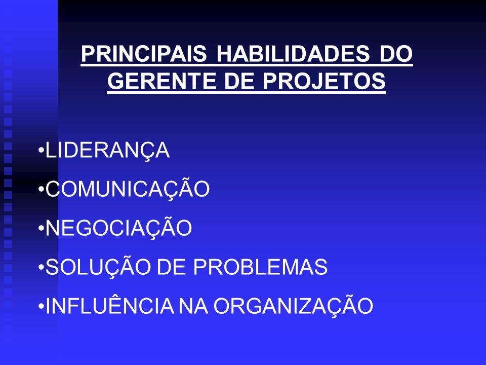 PRINCIPAIS HABILIDADES DO GERENTE DE PROJETOS