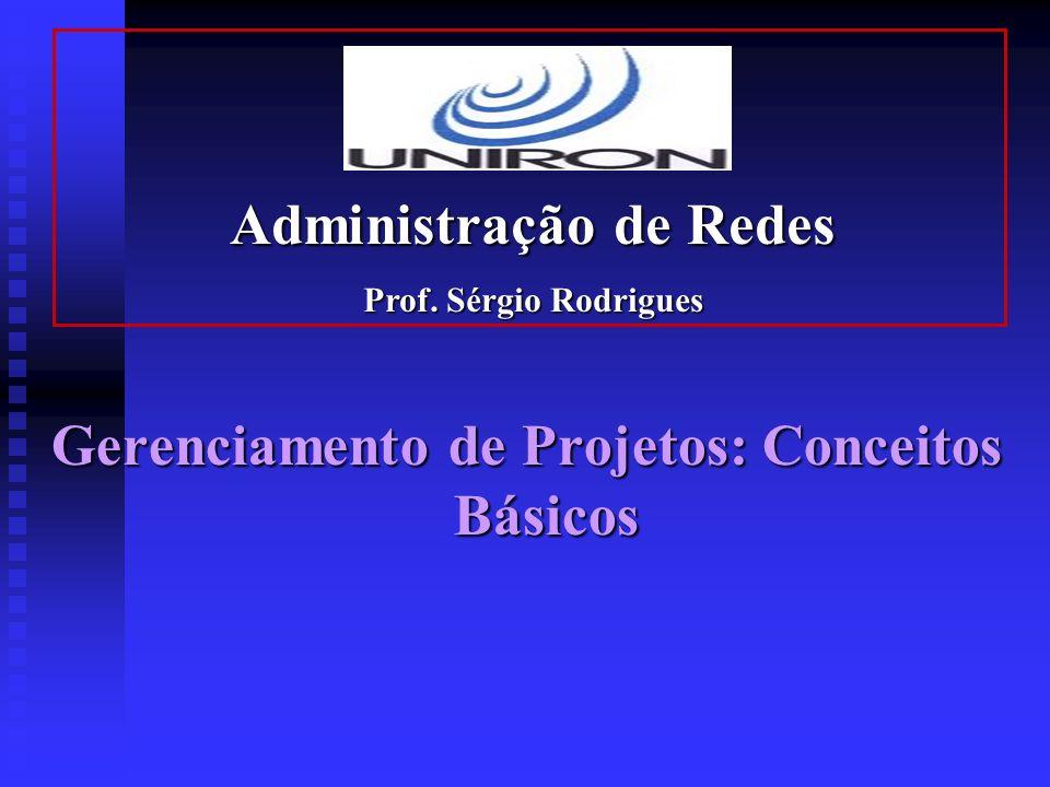 Administração de Redes Gerenciamento de Projetos: Conceitos Básicos