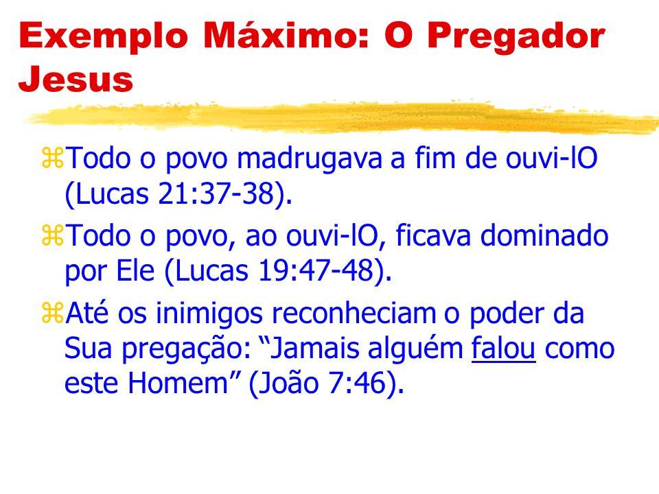 Exemplo Máximo: O Pregador Jesus