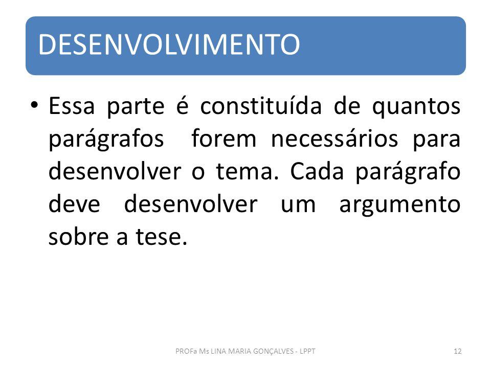 PROFa Ms LINA MARIA GONÇALVES - LPPT