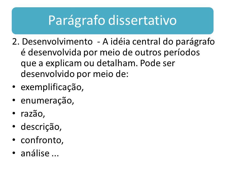 Parágrafo dissertativo