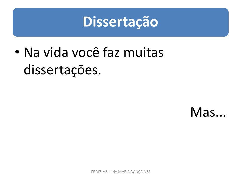 PROFª MS. LINA MARIA GONÇALVES