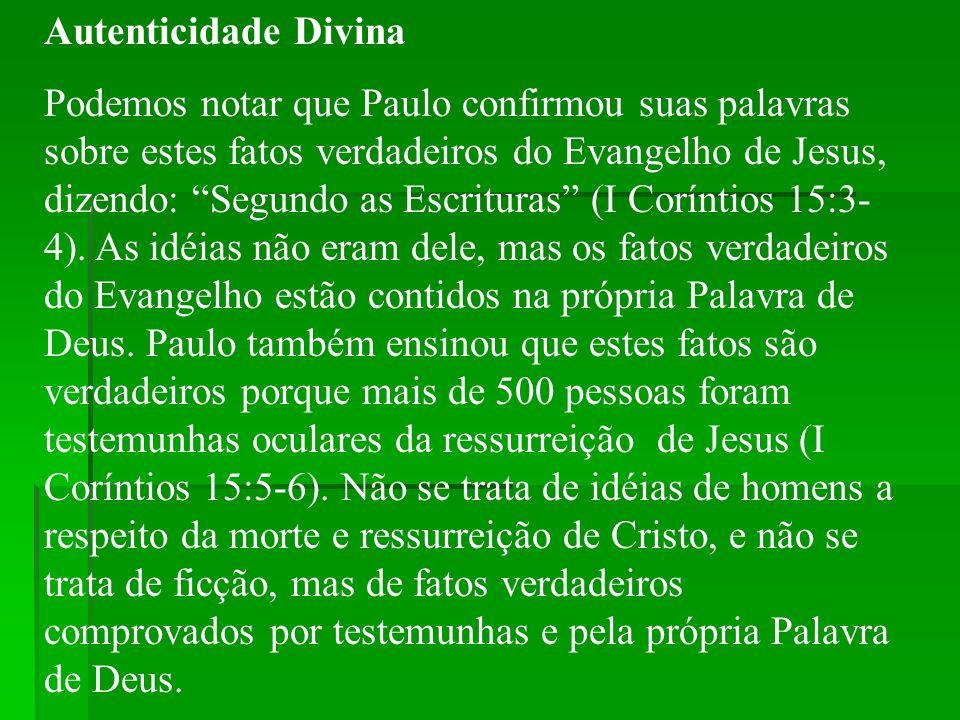 Autenticidade Divina