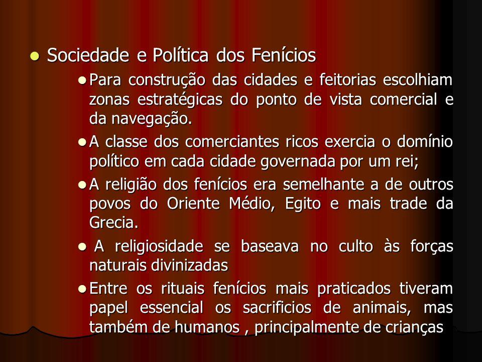 Sociedade e Política dos Fenícios