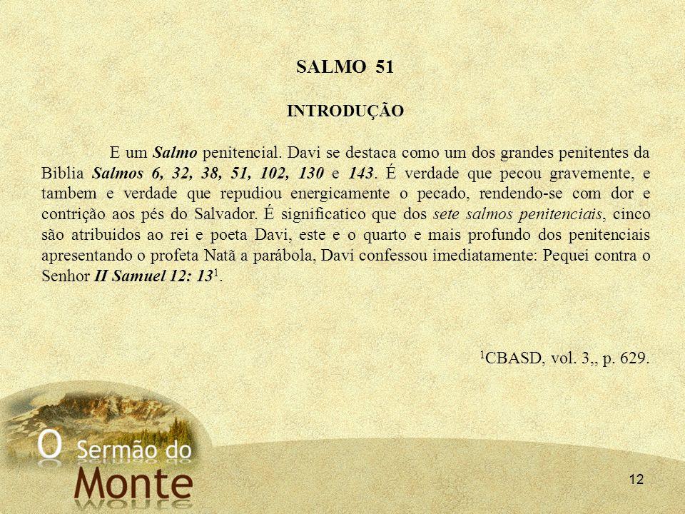 SALMO 51 INTRODUÇÃO.