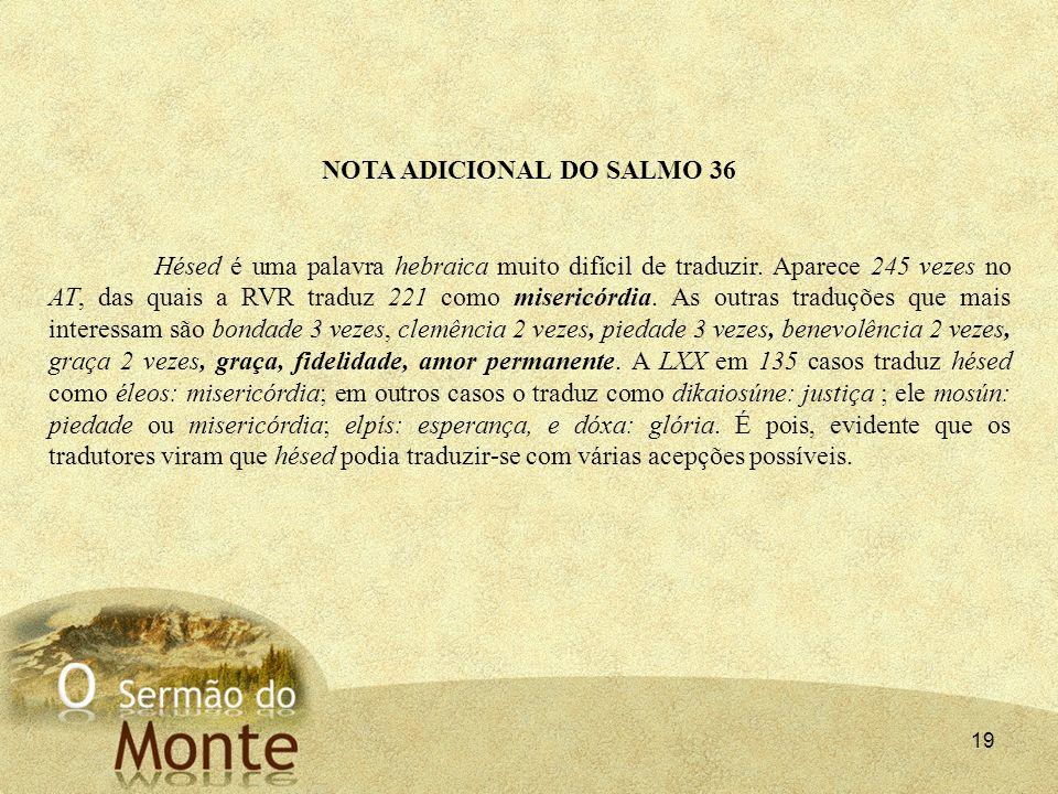 NOTA ADICIONAL DO SALMO 36
