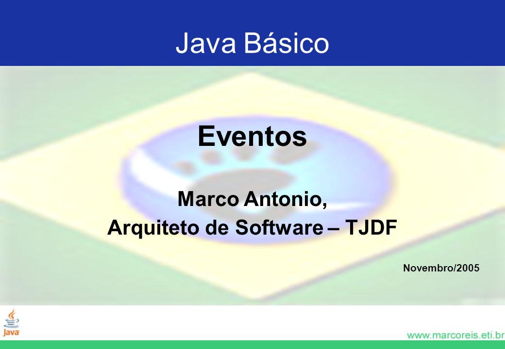 Eventos Marco Antonio, Arquiteto de Software – TJDF Novembro/2005