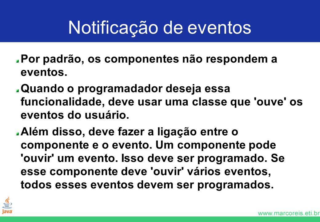 Notificação de eventos