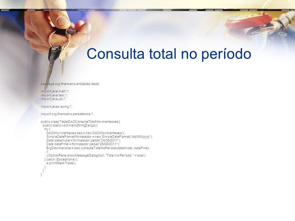 Consulta total no período
