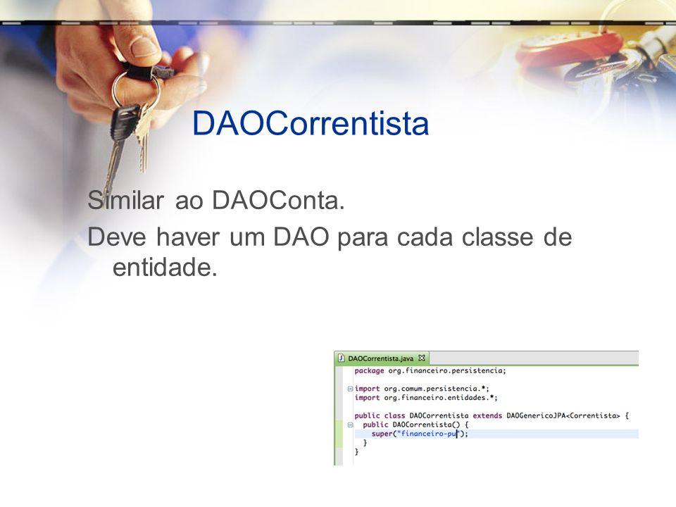 DAOCorrentista Similar ao DAOConta.