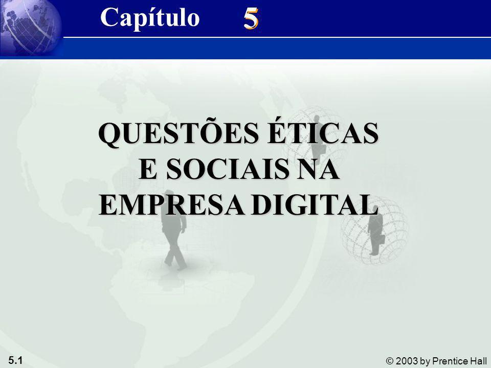 QUESTÕES ÉTICAS E SOCIAIS NA EMPRESA DIGITAL