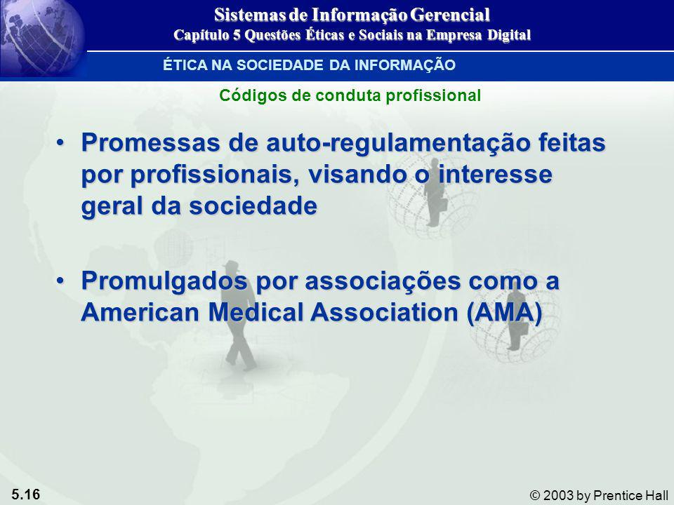 Promulgados por associações como a American Medical Association (AMA)