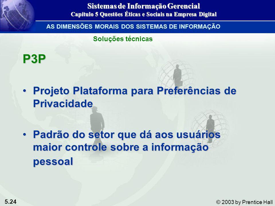 P3P Projeto Plataforma para Preferências de Privacidade