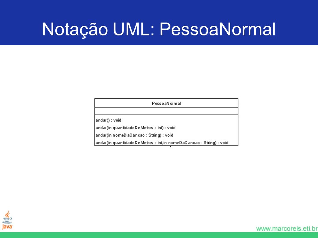 Notação UML: PessoaNormal
