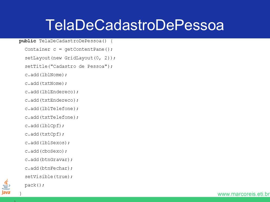 TelaDeCadastroDePessoa