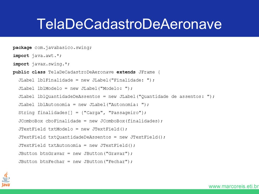 TelaDeCadastroDeAeronave