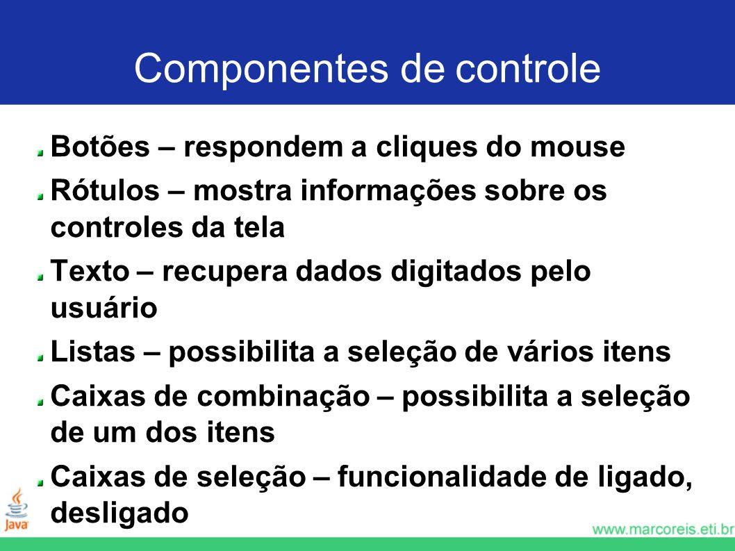 Componentes de controle