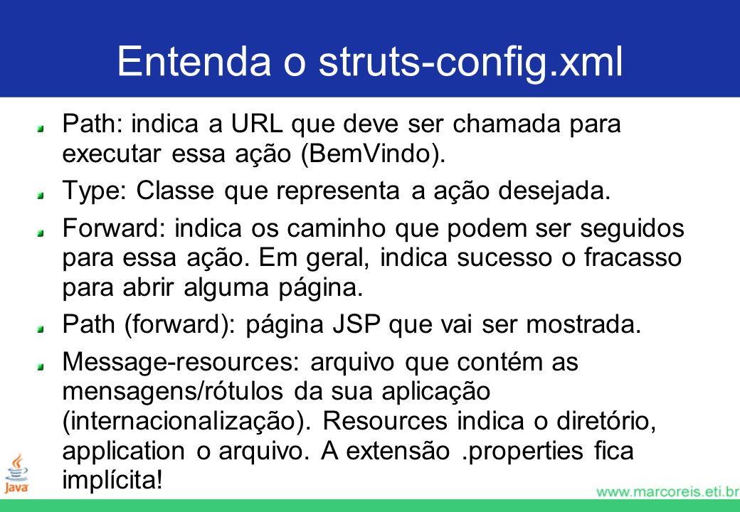 Entenda o struts-config.xml