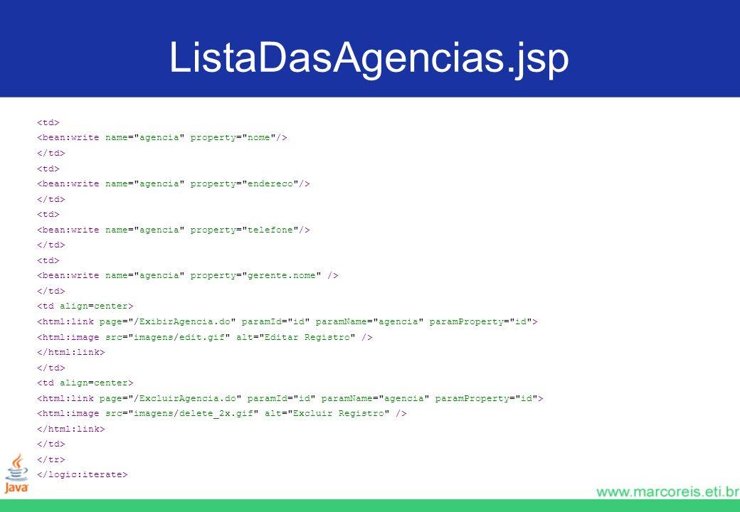 ListaDasAgencias.jsp <td>