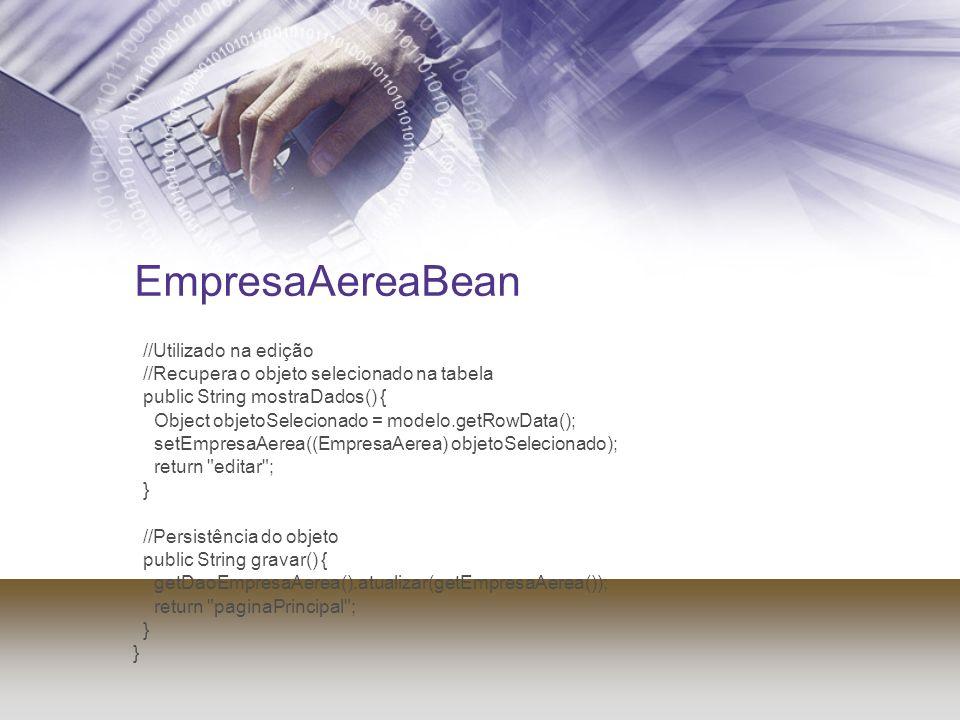 EmpresaAereaBean //Utilizado na edição