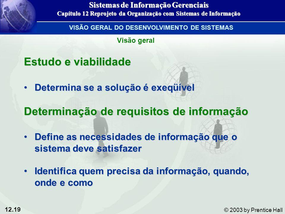 Determinação de requisitos de informação