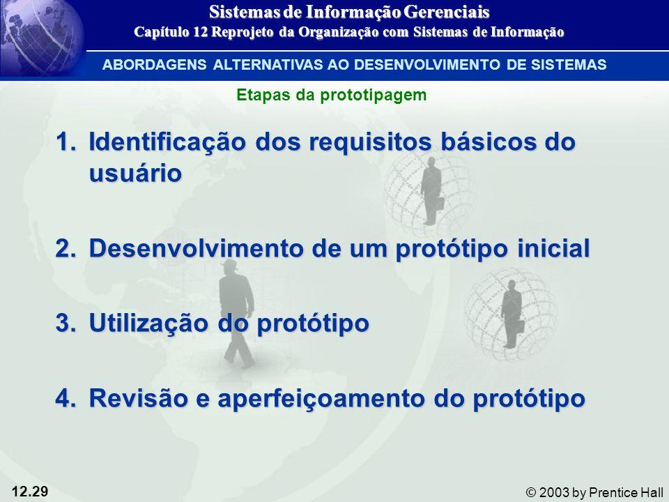 Identificação dos requisitos básicos do usuário