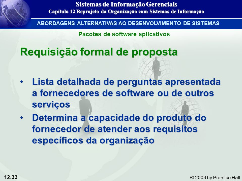 Requisição formal de proposta