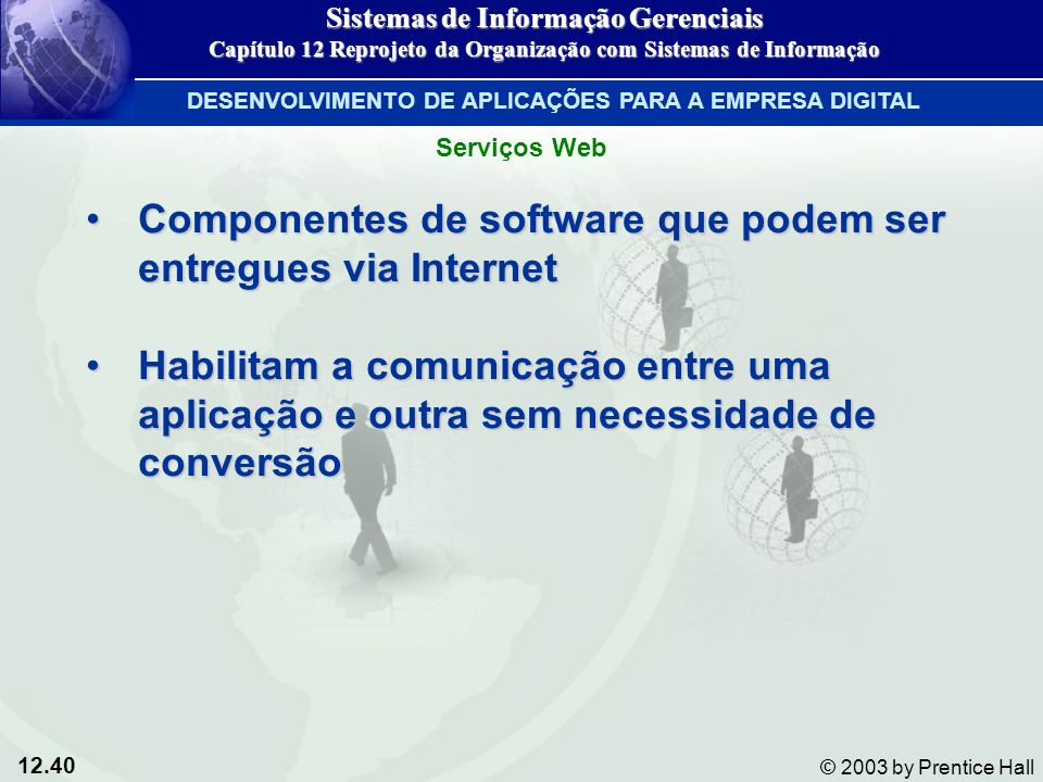 Componentes de software que podem ser entregues via Internet