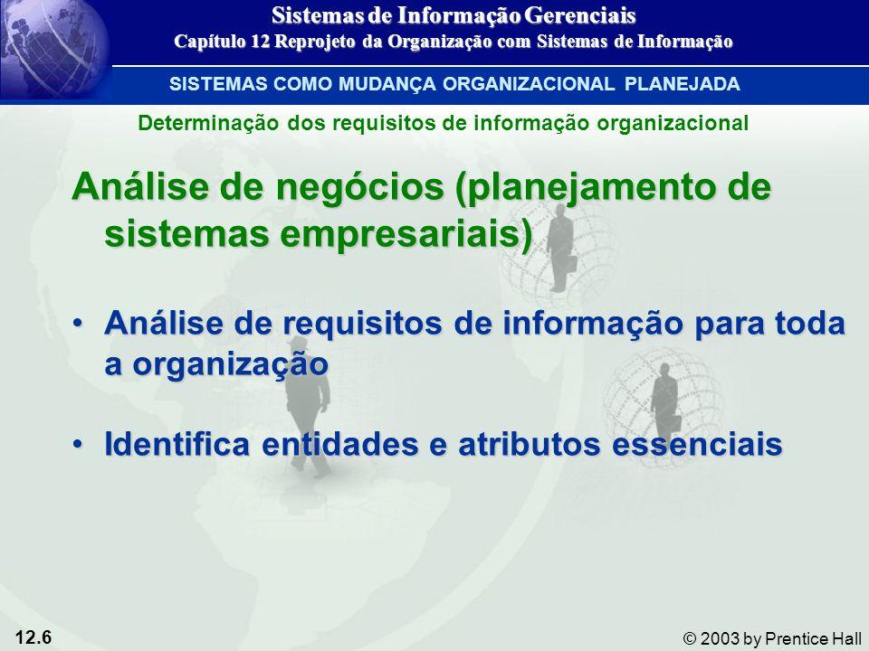 Análise de negócios (planejamento de sistemas empresariais)