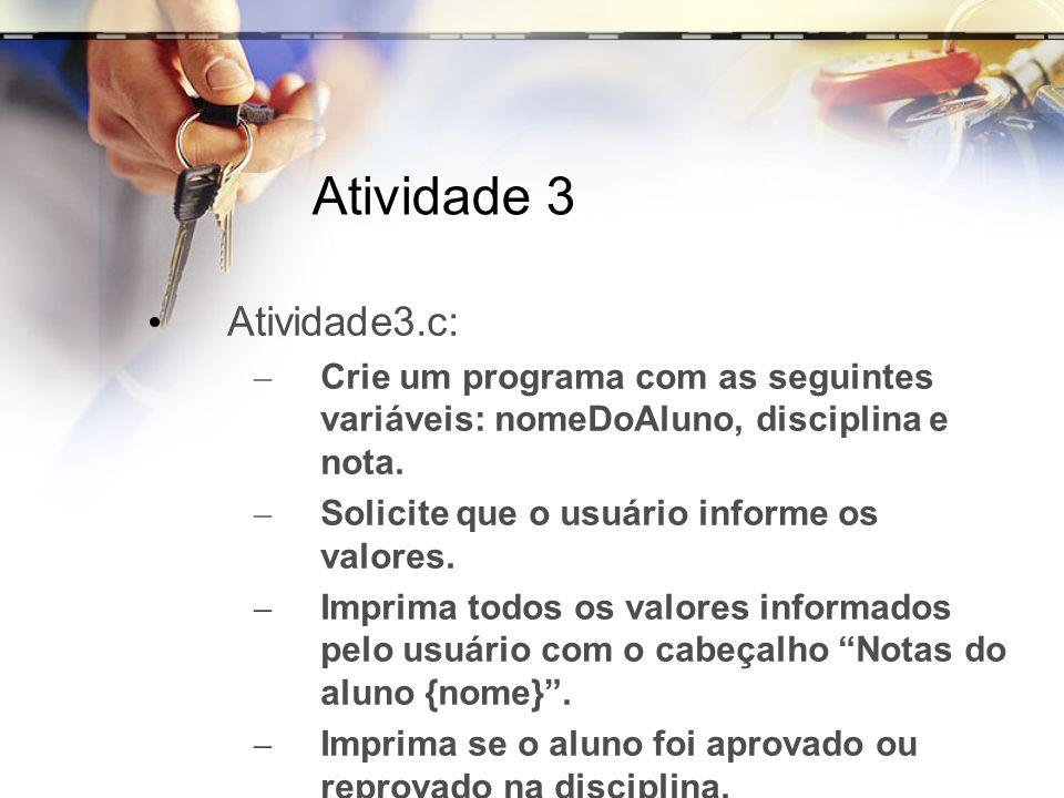 Atividade 3 Atividade3.c: