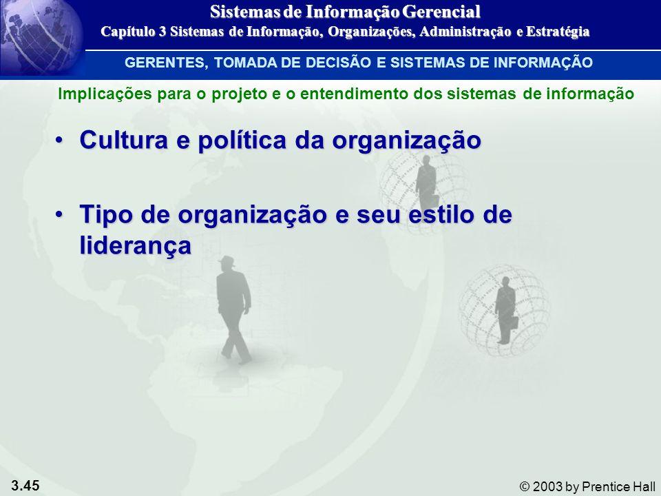 Cultura e política da organização