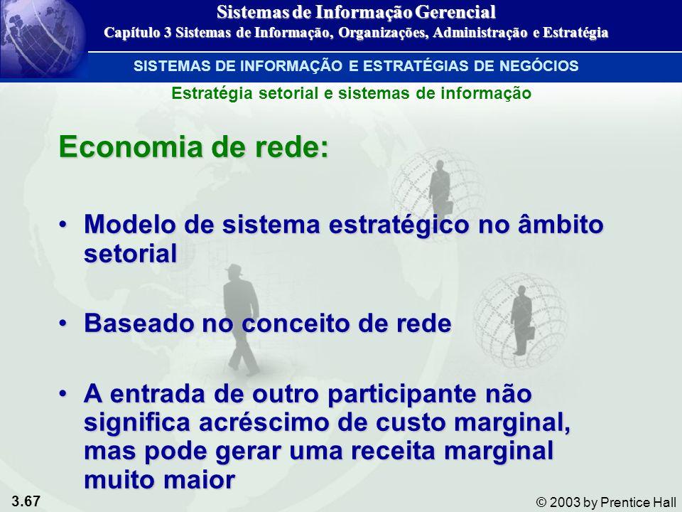 Economia de rede: Modelo de sistema estratégico no âmbito setorial