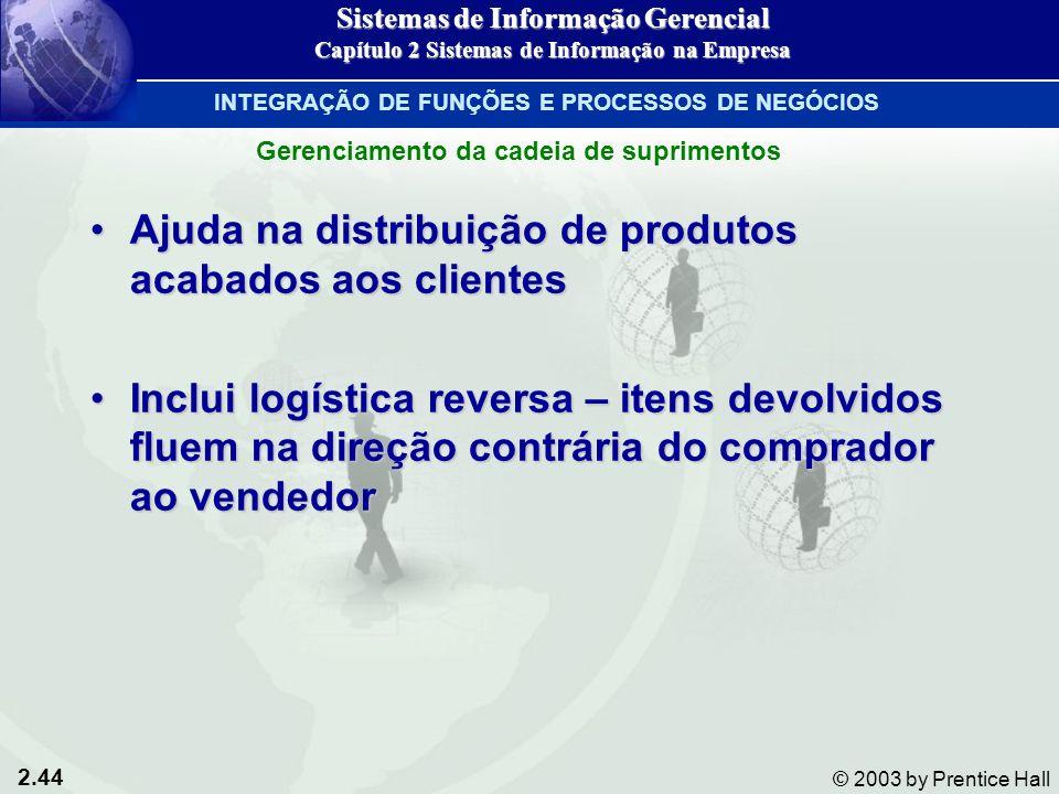 Ajuda na distribuição de produtos acabados aos clientes