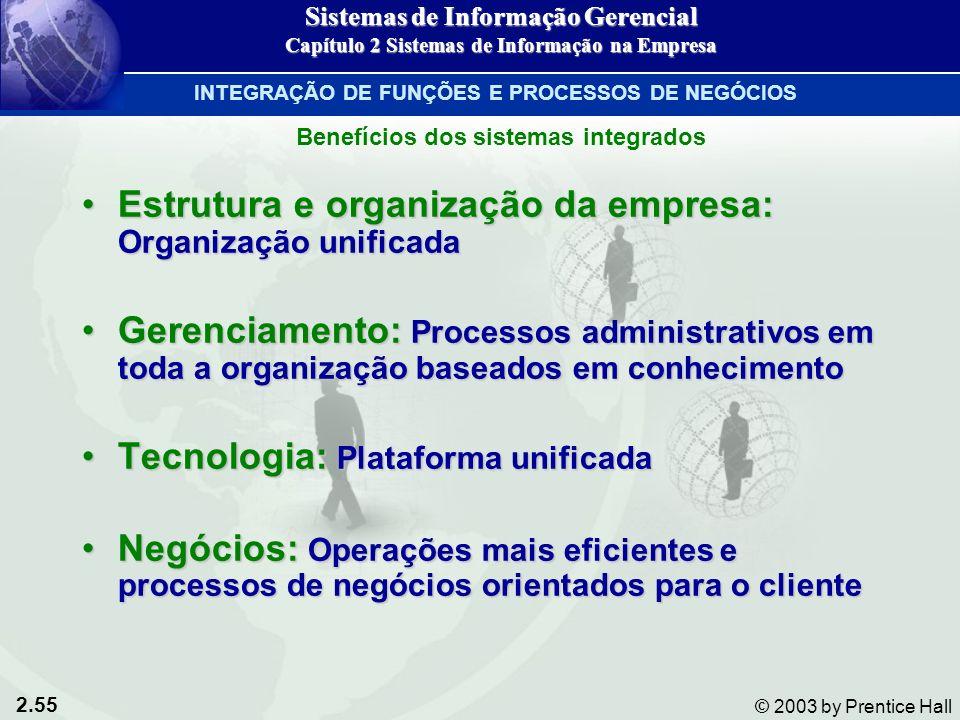 Estrutura e organização da empresa: Organização unificada