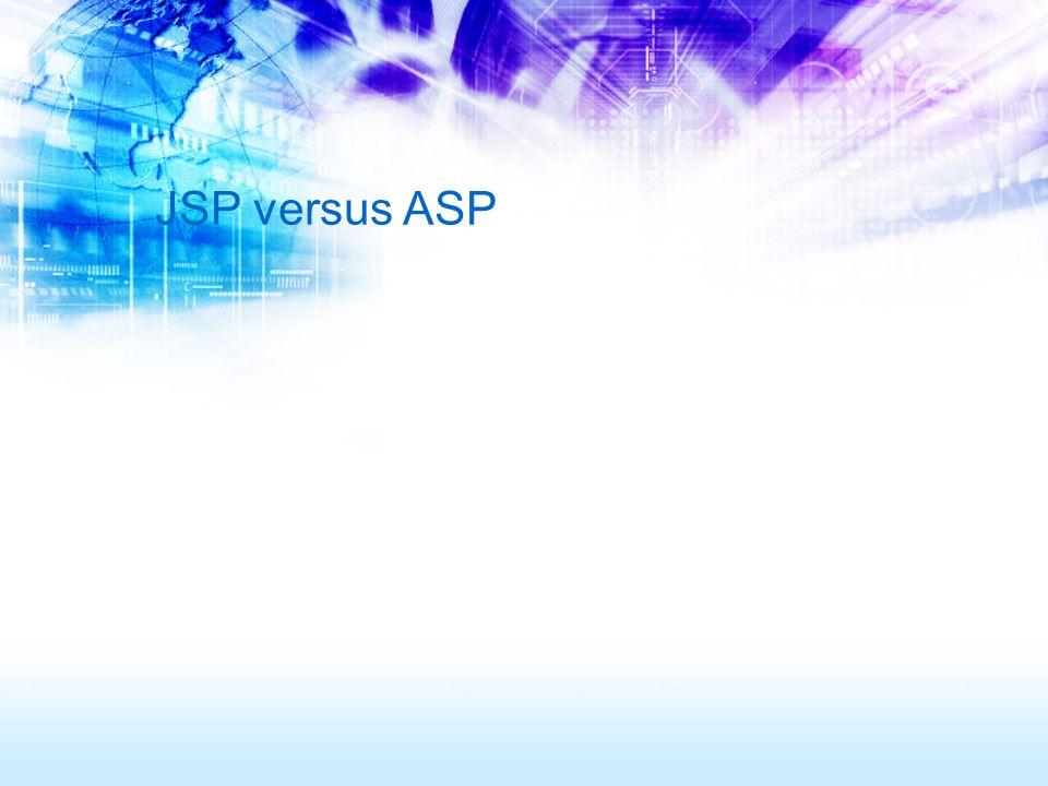 JSP versus ASP
