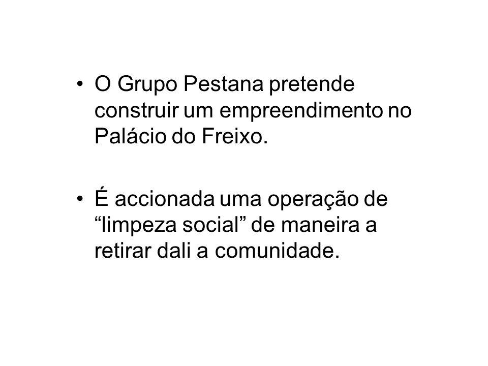 O Grupo Pestana pretende construir um empreendimento no Palácio do Freixo.