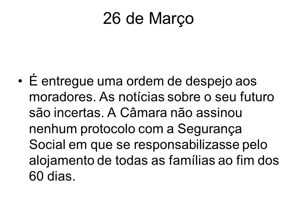 26 de Março
