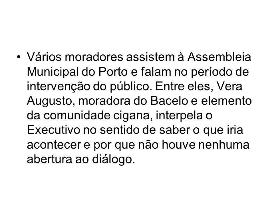 Vários moradores assistem à Assembleia Municipal do Porto e falam no período de intervenção do público.