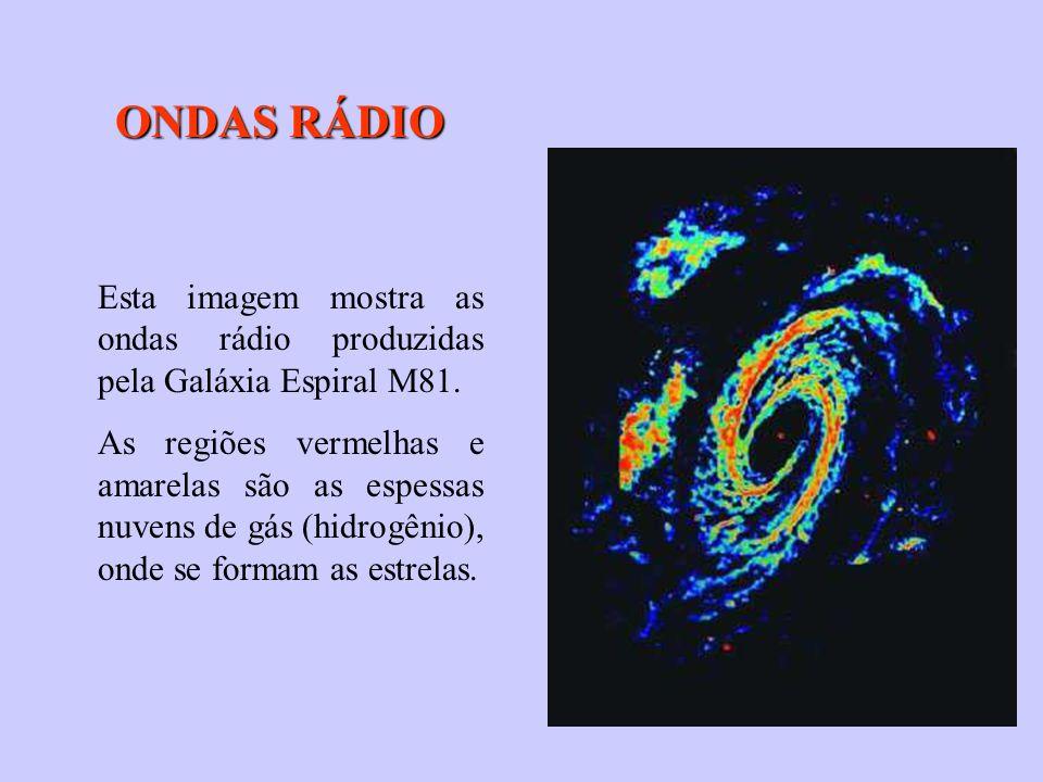 ONDAS RÁDIO Esta imagem mostra as ondas rádio produzidas pela Galáxia Espiral M81.