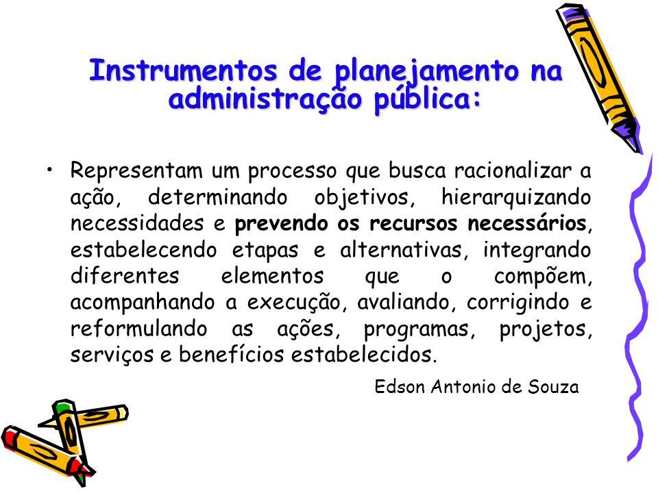 Instrumentos de planejamento na administração pública: