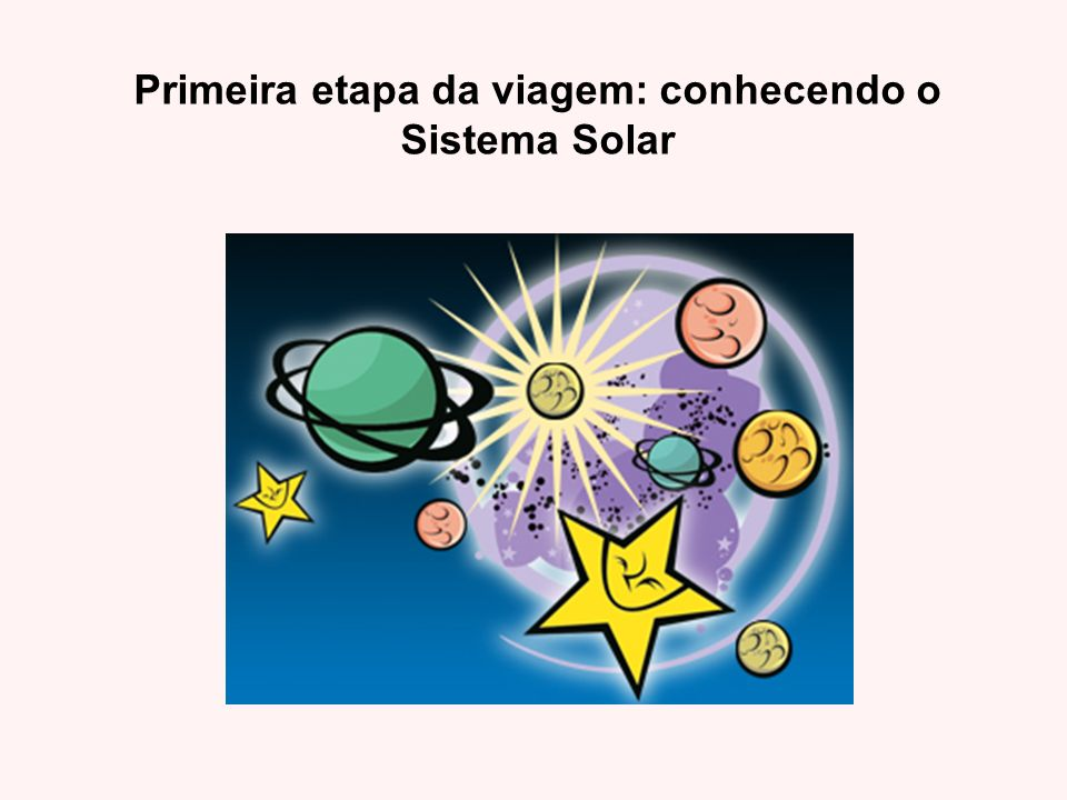 Primeira etapa da viagem: conhecendo o Sistema Solar
