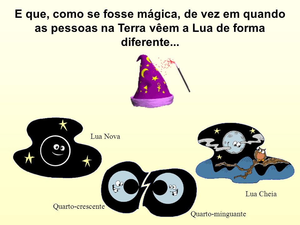 E que, como se fosse mágica, de vez em quando as pessoas na Terra vêem a Lua de forma diferente...