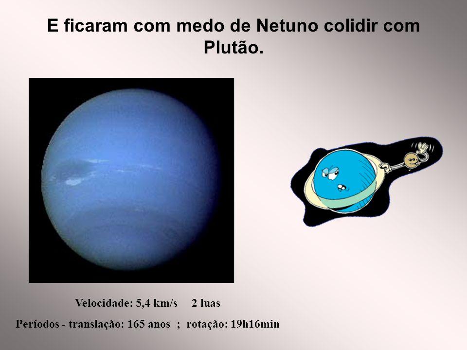 E ficaram com medo de Netuno colidir com Plutão.