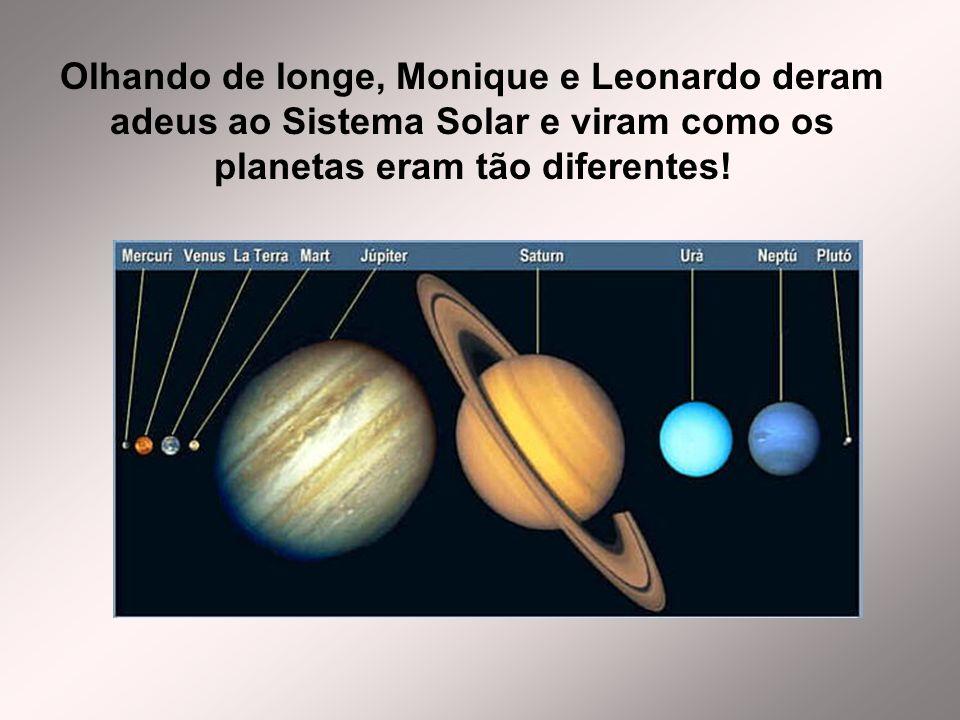 Olhando de longe, Monique e Leonardo deram adeus ao Sistema Solar e viram como os planetas eram tão diferentes!