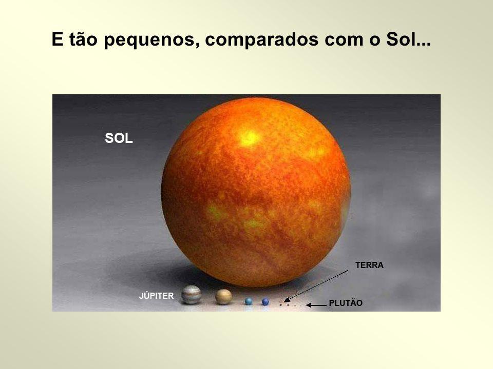 E tão pequenos, comparados com o Sol...