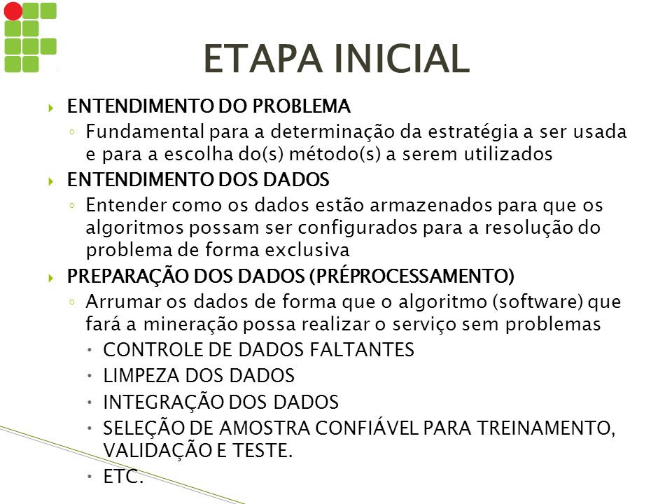 ETAPA INICIAL ENTENDIMENTO DO PROBLEMA