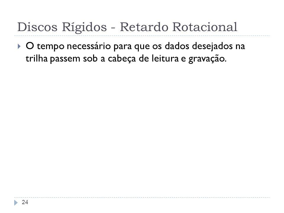 Discos Rígidos - Retardo Rotacional