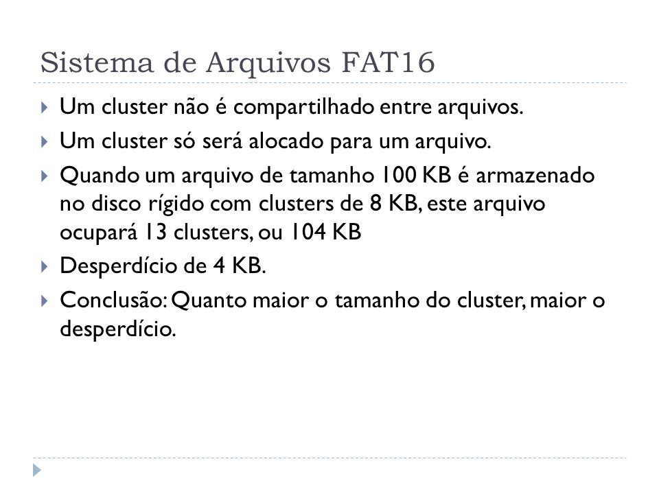 Sistema de Arquivos FAT16